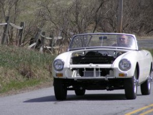 ON the Westminster West Rd. with the O.E.W. MGB