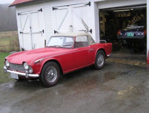 TR4 IRS car with frame repaired