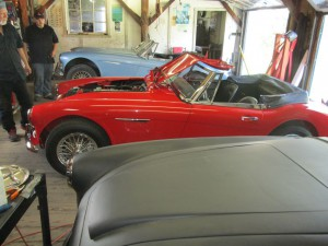 An Austin Healey with a bad tune up