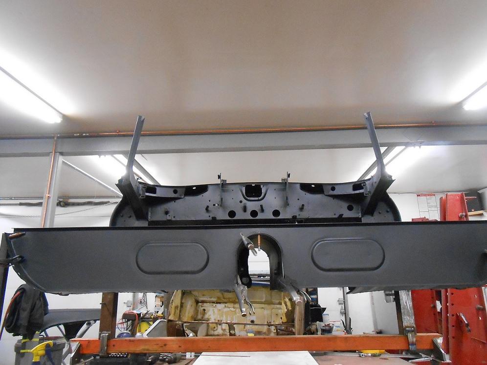 A Marechaux-built repair panel on an E-type