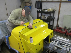 John works with the yellow Morgan +4