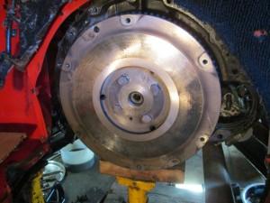 a flywheel with no clutch dowel pins