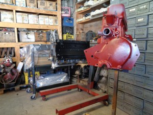 MG TD engine for assembly